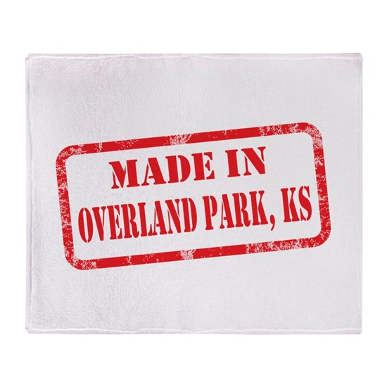 MADE IN OVERLAND PARK, KS Throw Blanket By Wild At ART