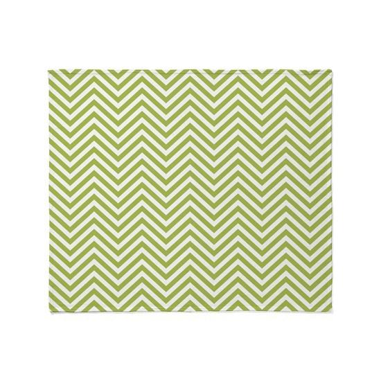 lime green chevrons throw blanket by marshenterprises cafepress. Black Bedroom Furniture Sets. Home Design Ideas