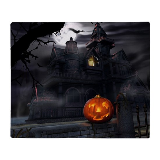 Halloween Pumpkin And Haunted House