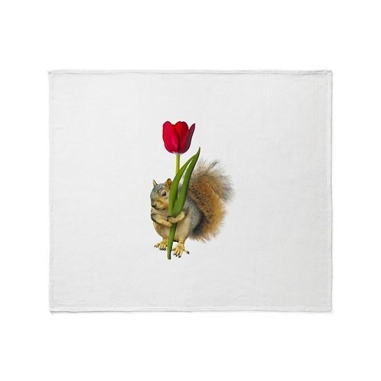 Squirrel Red Tulip