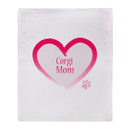 Corgi Mom in Pink Heartno paw