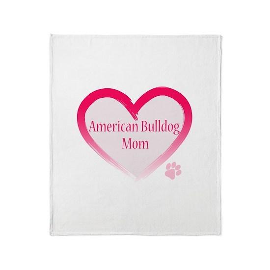 American Bulldog Mom in Pink Heartno paw