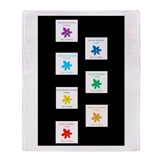 All Is Well Chakra Designs Black Background