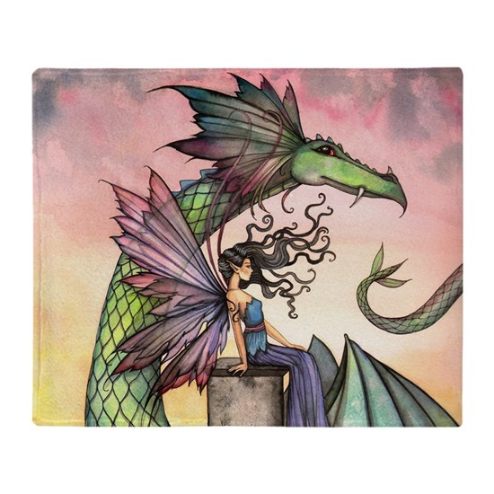 A Distant Place Fairy and Dragon Fantasy Art