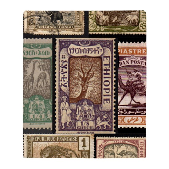 African Animals on Vintage Stamps