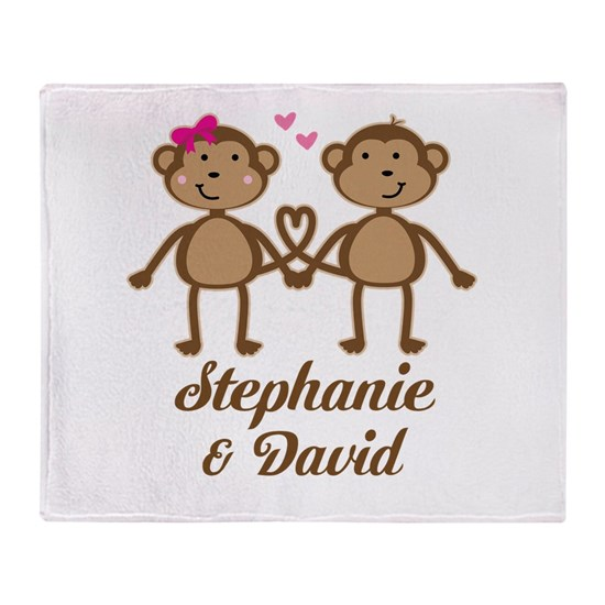 Monkey Couple Personalized Gift