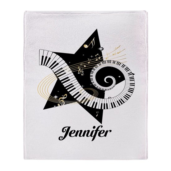 Personalized Musical Star and piano keyboard