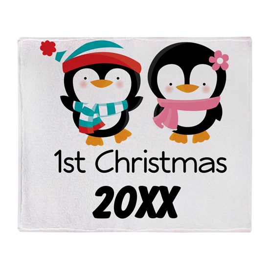 Personalized 1st Christmas Together Penguins