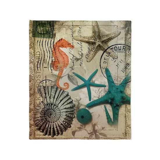 nautical seashells beach starfish