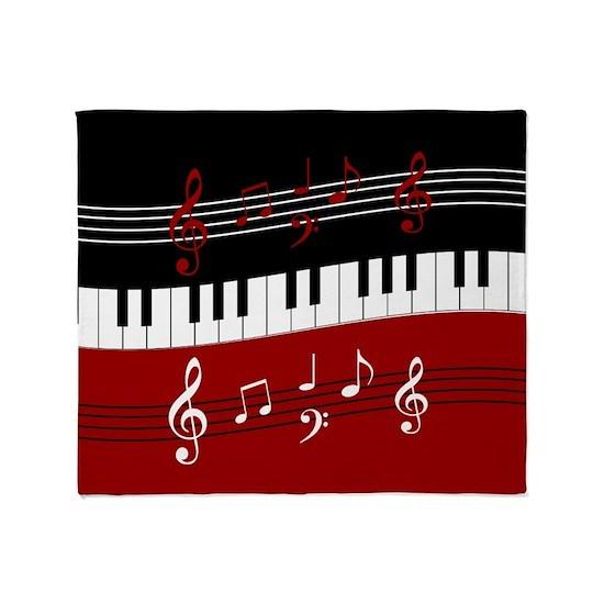 Stylish Piano keys and musical notes