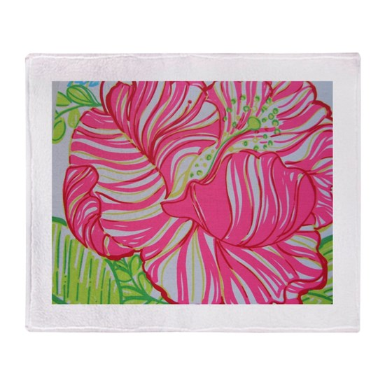 Pink Hawaiian Maui Hibiscus in Lilly Pulitzer Styl