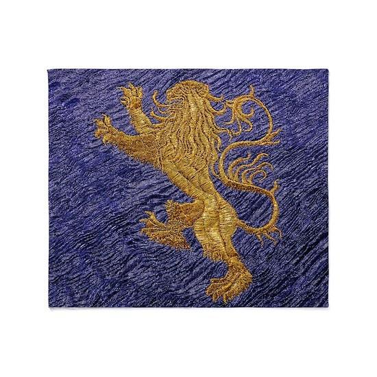 Rampant Lion - gold on blue