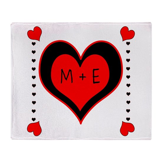 Cascading Hearts Monogram