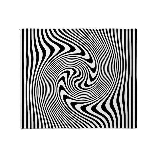 Black and White Op Art Twirl