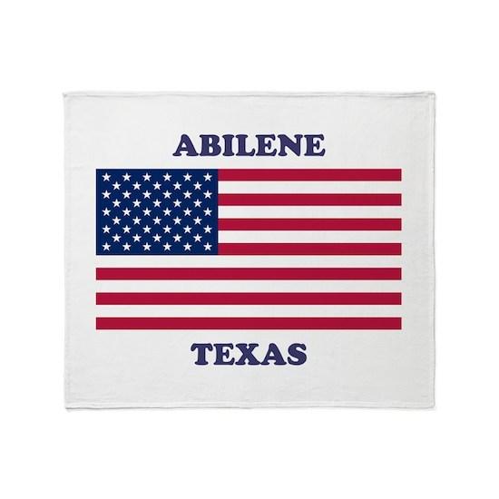 Abilene Texas Throw Blanket By TIM'S AMERICAN FLAG SHOP