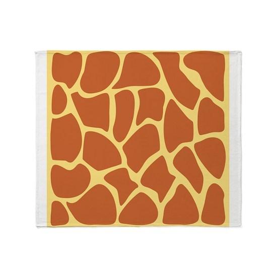 Brown Giraffe Print Design.