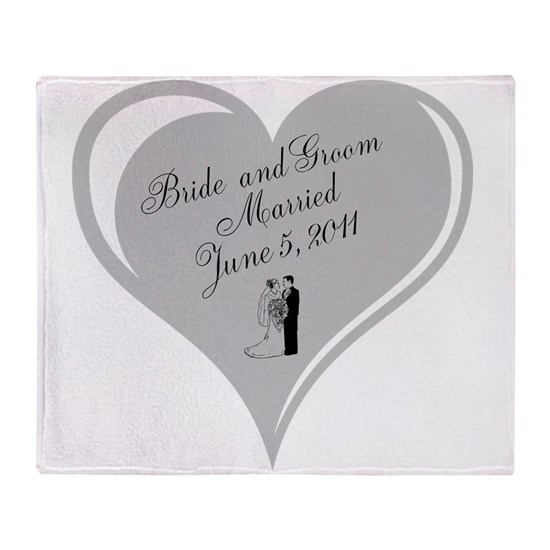 Bride and Groom personalized Wedding Heart