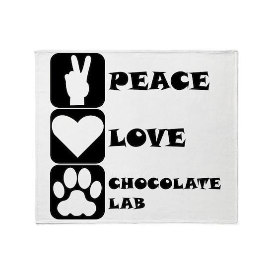 Peace Love Chocolate Lab
