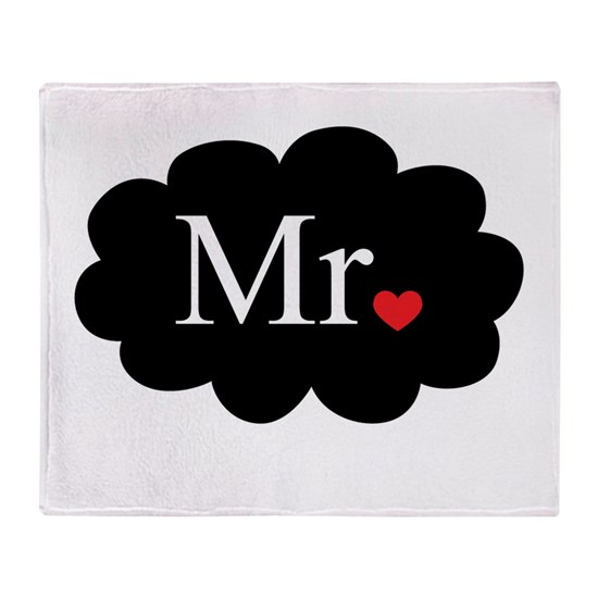 Mr with heart dot on cloud (Mr and Mrs set)