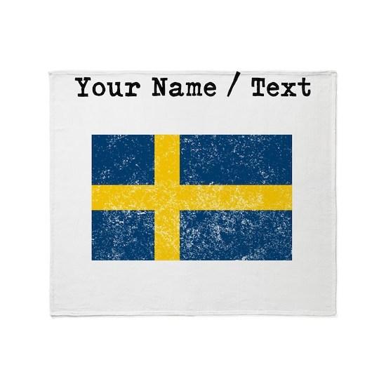 Custom Distressed Sweden Flag