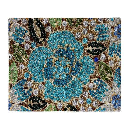 bohemian floral turquoise rhinestone