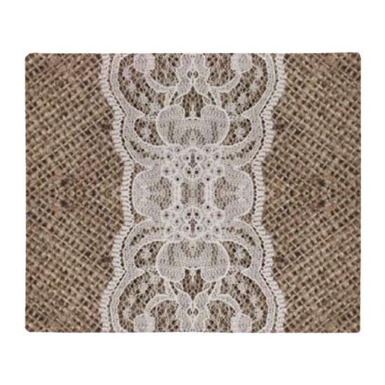 country rustic burlap lace
