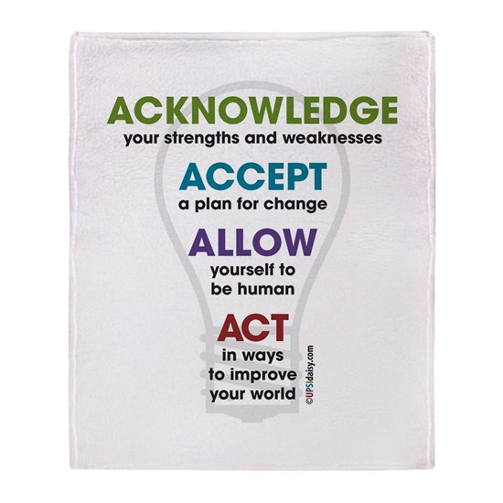 Acknowledge Accept Allow Act