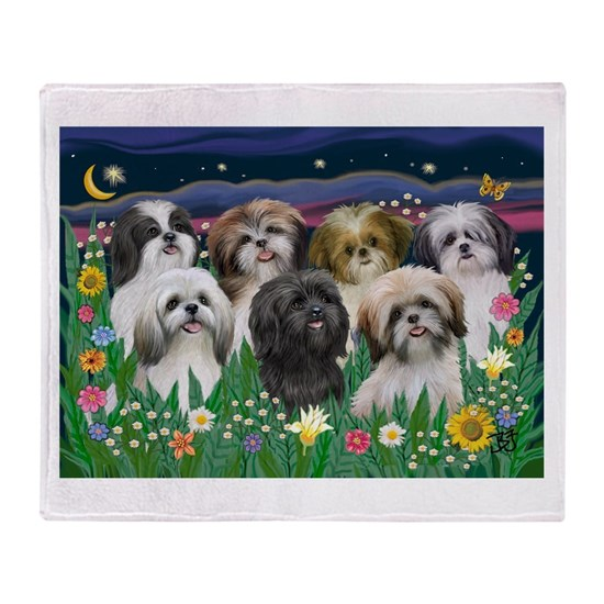 7 Shih Tzus - by JF