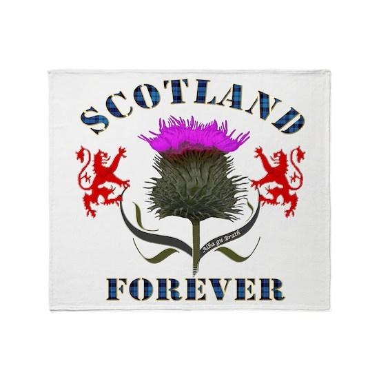Scotland Forever Thistle Blue