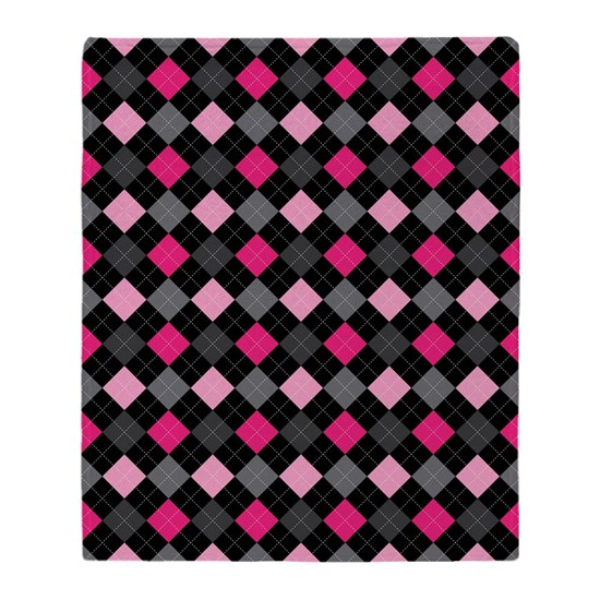 Pink Charcoal Argyle