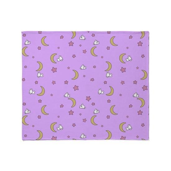 Sailor Moon blanket bedspread moon bunnies design