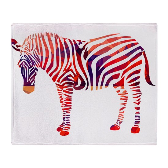 Mosaic Polygon Zebra Reds  Blues