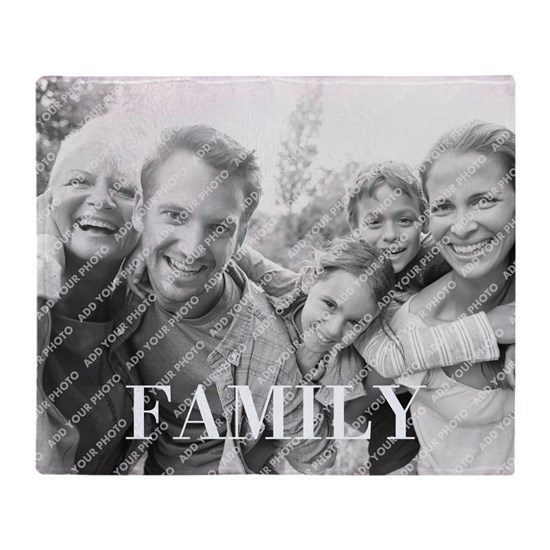 Family Throw Blanket Personalized