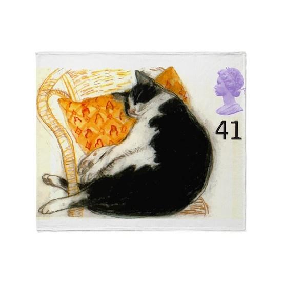 1995 Great Britain Sleeping Cat Postage Stamp