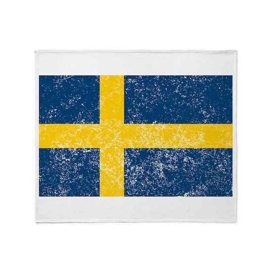 Distressed Sweden Flag