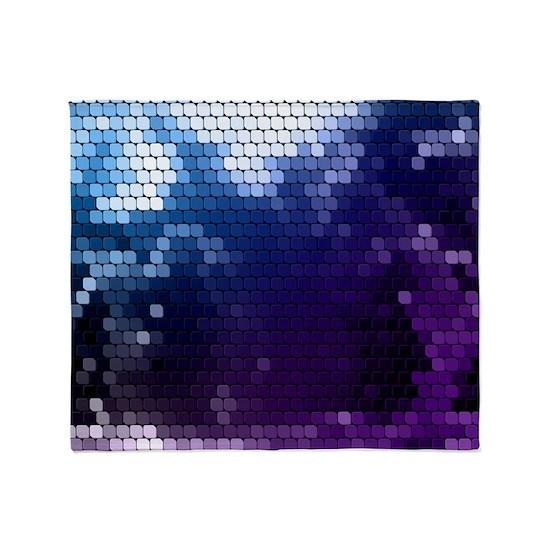 white blue purple tile