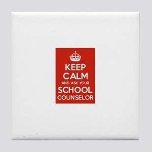 Keep Calm and Ask Your School Counselor Tile Coast