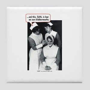 Nurse Blabbermouth Cure Tile Coaster