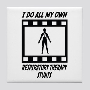 Respiratory Therapy Stunts Tile Coaster