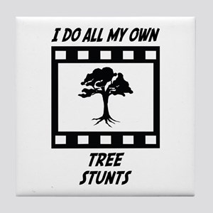 Tree Stunts Tile Coaster