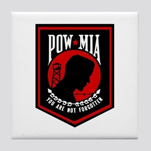 POW MIA (Red) Tile Coaster