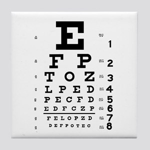Eye chart gift Tile Coaster