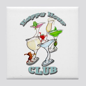 Happy Hour Club Tile Coaster