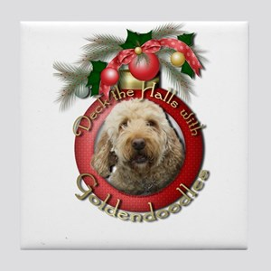 Christmas - Deck the Halls - GoldenDoodles Tile Co