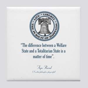 Ayn Rand Quote Tile Coaster