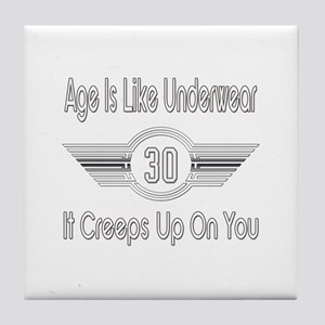Funny 30th Birthday Tile Coaster