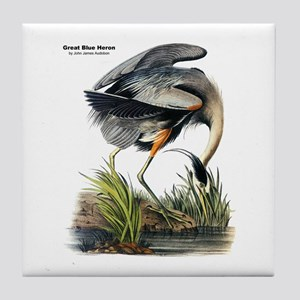 Audubon Great Blue Heron Tile Coaster
