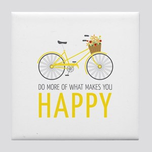 Makes You Happy Tile Coaster