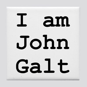 I am John Galt 01 Tile Coaster