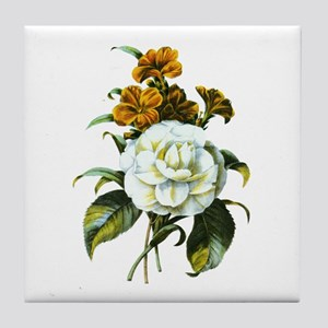 Redoute Bouquet Tile Coaster